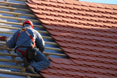 yellow pine tile roof installation